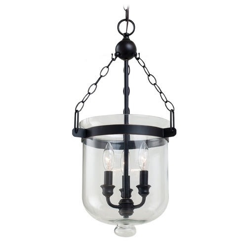 Sea Gull Lighting Pendant Light with Clear Glass in Autumn Bronze Finish 65046-715