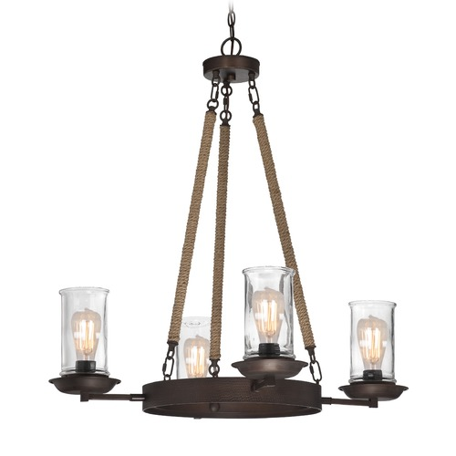 Jeremiah Lighting Jeremiah Thornton Aged Bronze Chandelier 36124-ABZ
