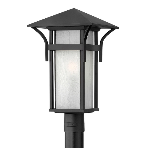 Hinkley Lighting Post Light with White Glass in Satin Black Finish 2571SK-GU24