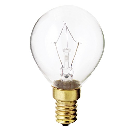Satco Lighting Incandescent Globe Light Bulb European Base 130V by Satco S3397