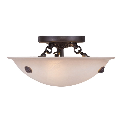 Livex Lighting Livex Lighting Oasis Bronze Semi-Flushmount Light 5624-07