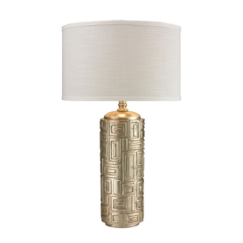 Dimond Lighting Dimond Lighting Antique Silver Leaf Table Lamp with Drum Shade D2723