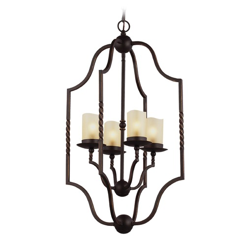Sea Gull Lighting Sea Gull Lighting Trempealeau Roman Bronze Pendant Light with Cylindrical Shade 5110604-191