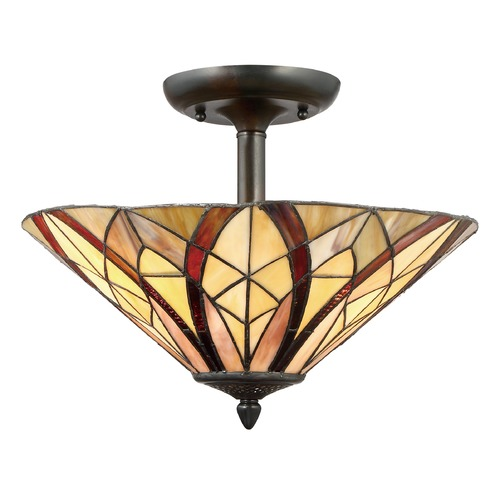 Quoizel Lighting Quoizel Lighting Victory Valiant Bronze Semi-Flushmount Light TFVY1716VA