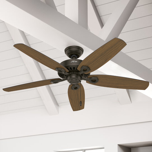 Hunter Fan Company Hunter Fan Company Builder Elite Damp New Bronze Ceiling Fan Without Light 53292