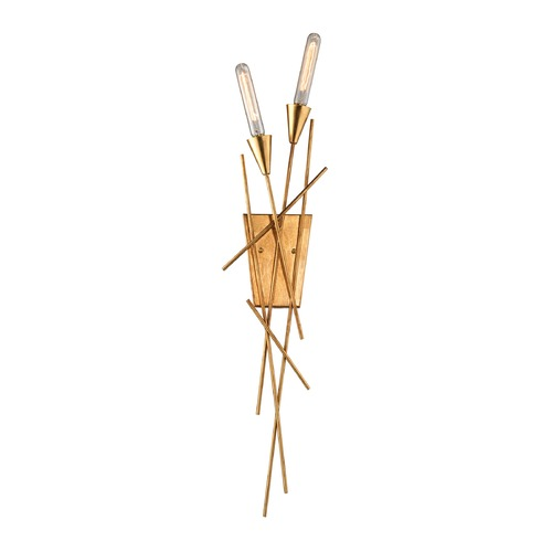 Elk Lighting Elk Lighting Sticks Antique Gold Leaf Sconce 32180/2