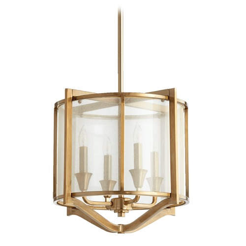 Quorum Lighting Quorum Lighting Highline Aged Brass Pendant Light 682-4-80