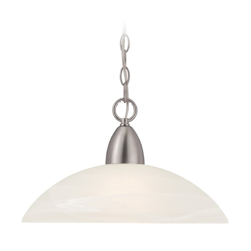 Designers Fountain Lighting Designers Fountain Torino Brushed Nickel Pendant Light with Bowl / Dome Shade 15005-DP-35