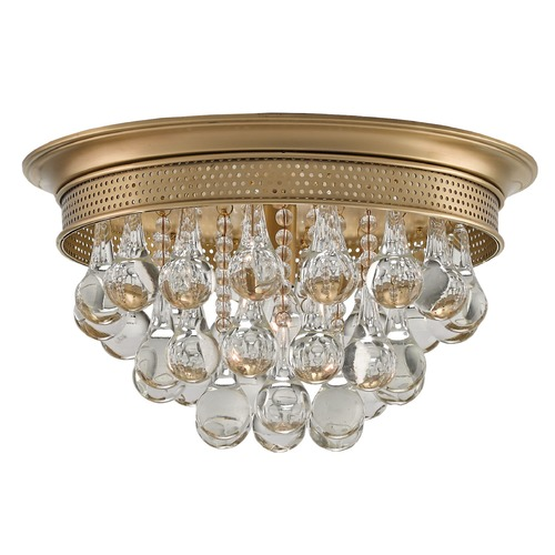 Currey and Company Lighting Currey and Company Worthing Antique Brass Flushmount Light 9999-0002