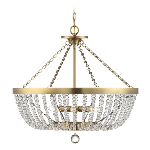 Savoy House Savoy House Lighting Bergamo Warm Brass Pendant Light with Bowl / Dome Shade 7-2852-6-322