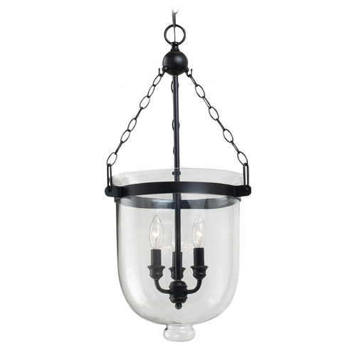 Sea Gull Lighting Pendant Light with Clear Glass in Autumn Bronze Finish 65047-715