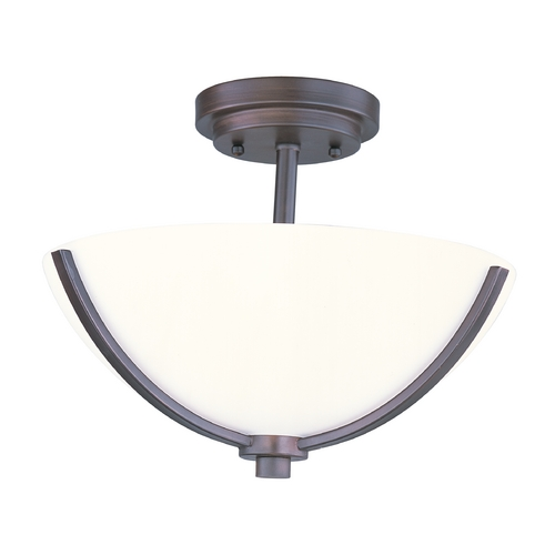 Maxim Lighting Maxim Lighting Deven Oil Rubbed Bronze Semi-Flushmount Light 20031SWOI