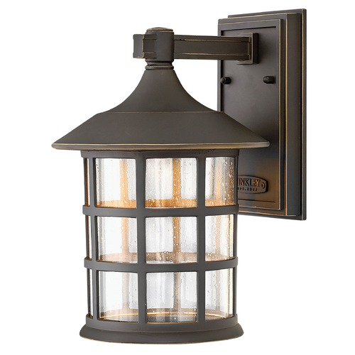 Hinkley Lighting Seeded Glass LED Outdoor Wall Light Oil Rubbed Bronze Hinkley Lighting 1804OZ-LED
