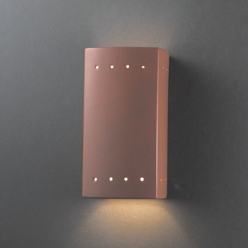 Justice Design Group Sconce Wall Light in Terra Cotta Finish CER-0925-TERA