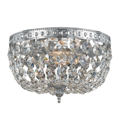 Crystorama Lighting Crystorama Lighting Ceiling Mount Polished Chrome Flushmount Light 708-CH-CL-MWP