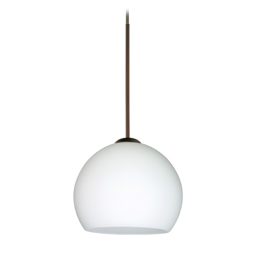Besa Lighting Besa Lighting Palla Bronze Mini-Pendant Light with Bowl / Dome Shade 1XT-565807-BR