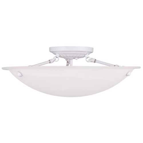 Livex Lighting Livex Lighting Oasis White Semi-Flushmount Light 4274-03