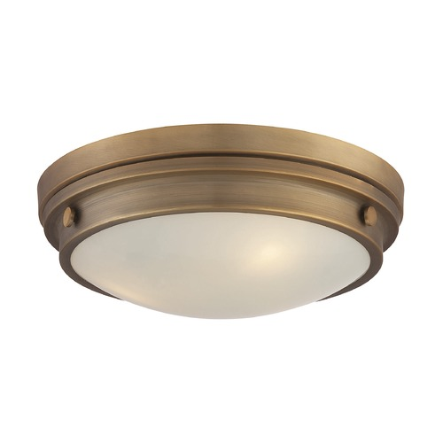 Savoy House Savoy House Lighting Lucerne Warm Brass Flushmount Light 6-3350-16-322