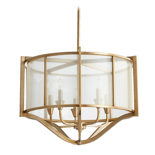 Quorum Lighting Quorum Lighting Highline Aged Brass Pendant Light 682-5-80