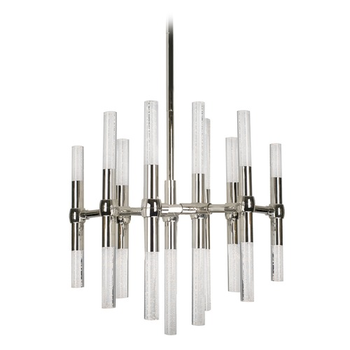 Kuzco Lighting Modern Polished Nickel LED Mini-Chandelier with Clear Shade 3000K 1810LM CH9621-PN