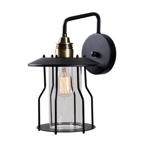 Kenroy Home Lighting Mid-Century Modern Outdoor Wall Light Bronze and Black Trevor by Kenroy Home Lighting 93771ABRZ