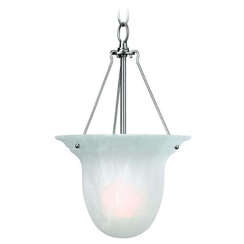 Dolan Designs Lighting Mini-Pendant with Alabaster Glass and LED Bulb 661-09/10W LED