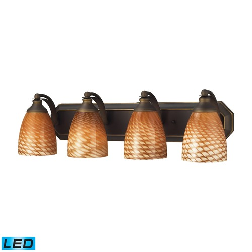 Elk Lighting Elk Lighting Bath and Spa Aged Bronze LED Bathroom Light 570-4B-C-LED