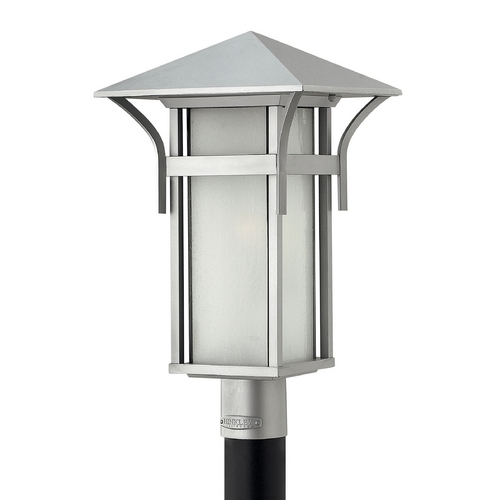 Hinkley Lighting Post Light with White Glass in Titanium Finish 2571TT-GU24