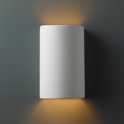 Justice Design Group Sconce Wall Light in Bisque Finish CER-0945-BIS