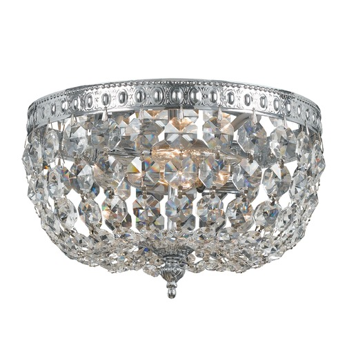 Crystorama Lighting Crystorama Lighting Ceiling Mount Chrome Flushmount Light 708-CH-CL-S