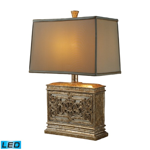 Dimond Lighting Dimond Lighting Courtney Gold LED Table Lamp with Rectangle Shade D1443-LED