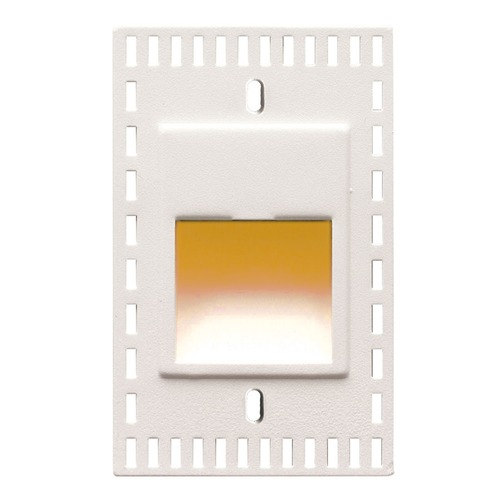 WAC Lighting WAC Lighting Ledme White LED Recessed Step Light with Amber LED WL-LED200TR-AM-WT