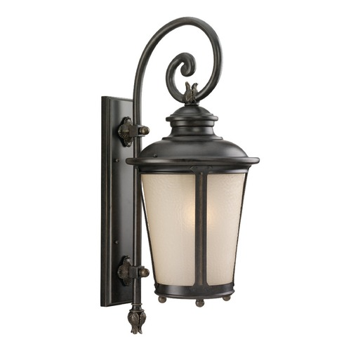 Sea Gull Lighting Sea Gull Lighting Cape May Burled Iron LED Outdoor Wall Light 8824291S-780