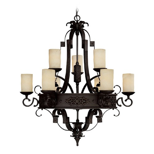 Capital Lighting Capital Lighting River Crest Rustic Iron Chandelier 3609RI-125