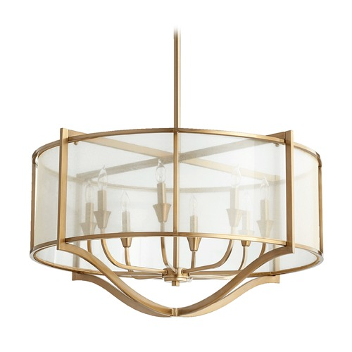 Quorum Lighting Quorum Lighting Highline Aged Brass Pendant Light 682-8-80