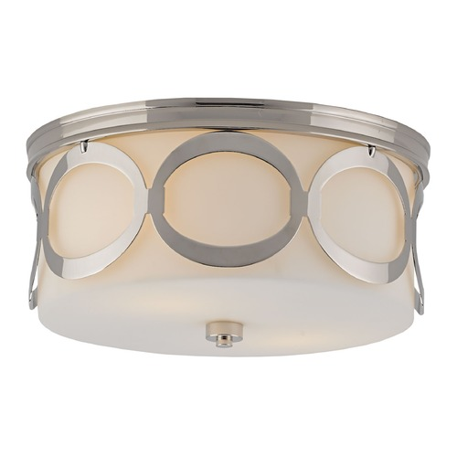 Currey and Company Lighting Currey and Company Wilbury Polished Nickel Flushmount Light 9999-0004