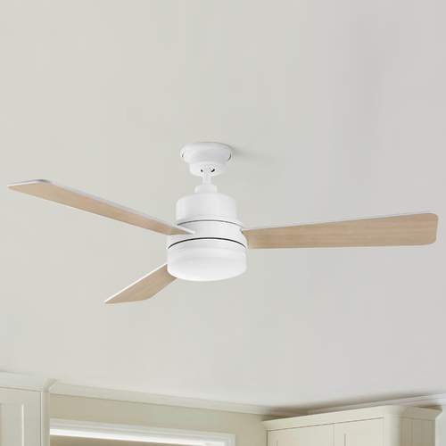 Progress Lighting Progress Lighting Trevina II White LED Ceiling Fan with Light 3000K 1400LM P2556-3030K