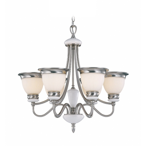 Lite Source Lighting Lite Source Lighting Carter Polished Steel Chandelier LS-18426PS/FRO