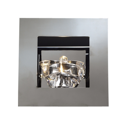PLC Lighting Modern Sconce Wall Light in Polished Chrome Finish 21059 PC