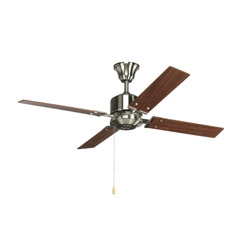 Progress Lighting Progress Ceiling Fan Without Light in Brushed Nickel Finish P2531-09