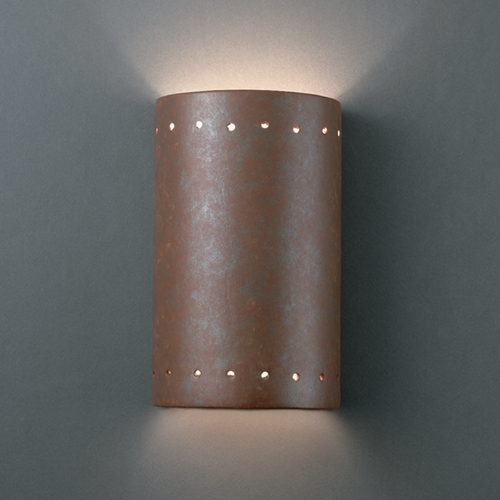 Justice Design Group Sconce Wall Light in Rust Patina Finish CER-0995-PATR