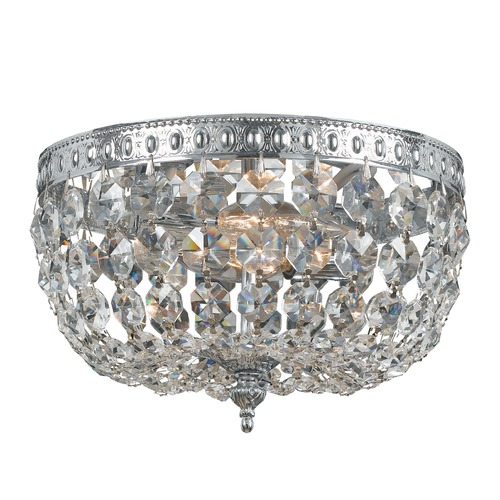 Crystorama Lighting Crystorama Lighting Ceiling Mount Polished Chrome Flushmount Light 708-CH-CL-SAQ