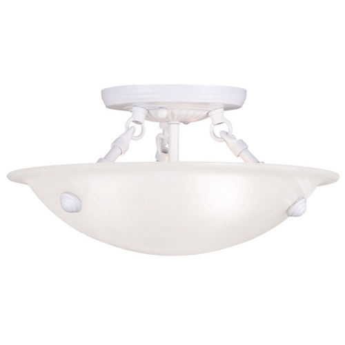 Livex Lighting Livex Lighting Oasis White Semi-Flushmount Light 4272-03