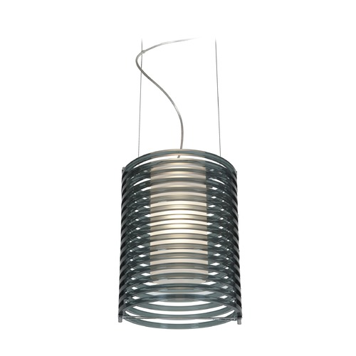 Access Lighting Access Lighting Enzo Chrome Mini-Pendant Light with Cylindrical Shade 55525-CH/ASM