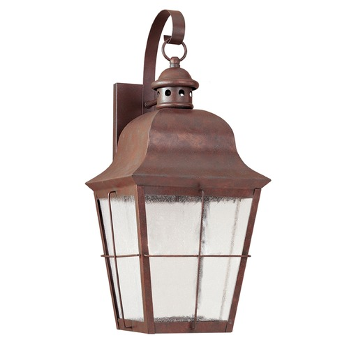 Sea Gull Lighting Seeded Glass LED Outdoor Wall Light Copper Sea Gull Lighting 846391S-44