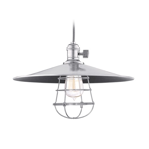 Hudson Valley Lighting Hudson Valley Lighting Heirloom Historic Nickel Pendant Light with Coolie Shade 8002-HN-MM1-WG