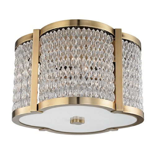 Hudson Valley Lighting Hudson Valley Lighting Ballston Aged Brass Flushmount Light 4302-AGB