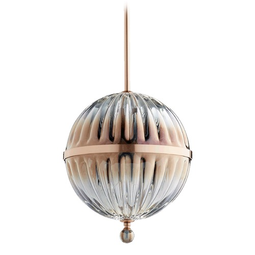 Quorum Lighting Quorum Lighting Brushed Copper Mini-Pendant Light with Globe Shade 683-10-19