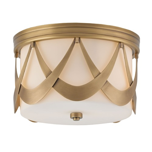 Currey and Company Lighting Currey and Company Waverley Antique Brass Flushmount Light 9999-0005