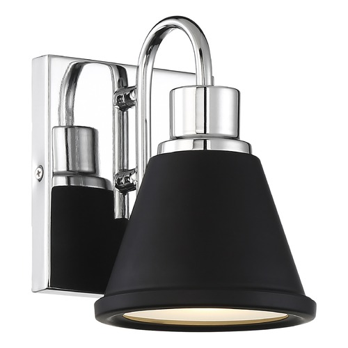 Nuvo Lighting Satco Lighting Bette Polished Nickel / Matte Black LED Sconce 62/1471